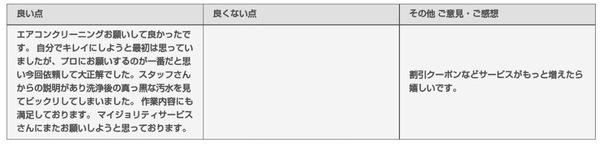 長岡京市 エアコンクリーニング2台 口コミレビュー