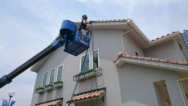 滋賀県草津市 住宅外壁の高圧洗浄 (個人様宅)