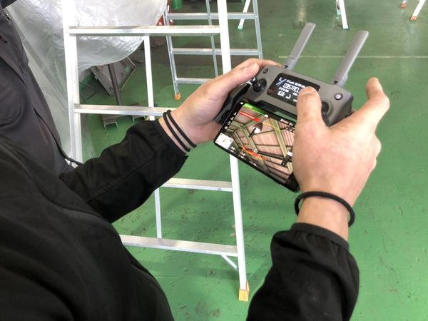 京都府久世郡久御山町 高所除塵清掃(製造工場) ドローンで撮影